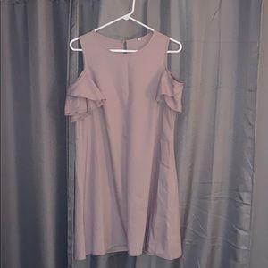 Taupe Cold Shoulder Dress
